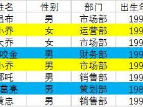 Excel中利用单元格颜色进行排序