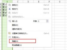 Excel表格隐藏行列图文教程