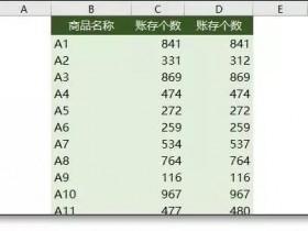 Excel表格核对数据9个神技