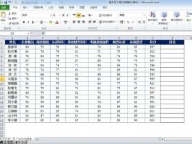 Excel中如何给成绩排名次?