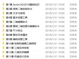 AutoCAD 2018从入门到精通视频教程下载(含素材)