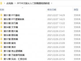 PPT 2019中文版从入门到精通视频教程(含素材)