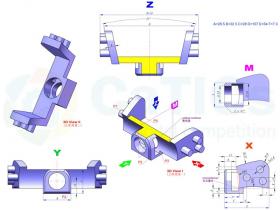 Solidworks中级建模练习之绘制异型连接件模型