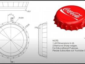 Solidworks建模中级练习之画一个可口可乐的瓶盖